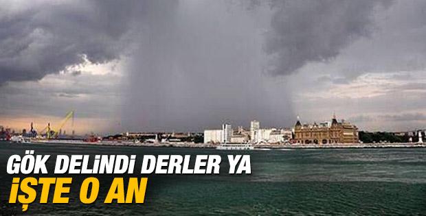 İstanbul'da gök delindi dedirten fotoğraf