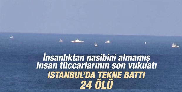 İstanbul Boğazı'nda tekne battı İZLE