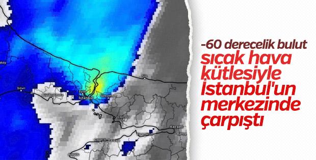 İstanbul'dan -60 Derecelik bulut geçti