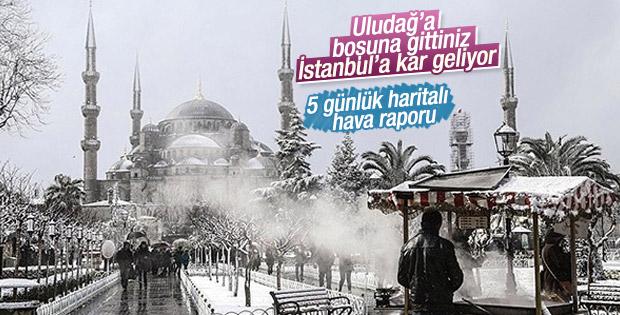 Çarşamba günü İstanbul'a kar geliyor
