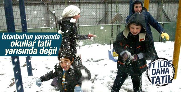 İstanbul'da 19 ilçede okullar tatil