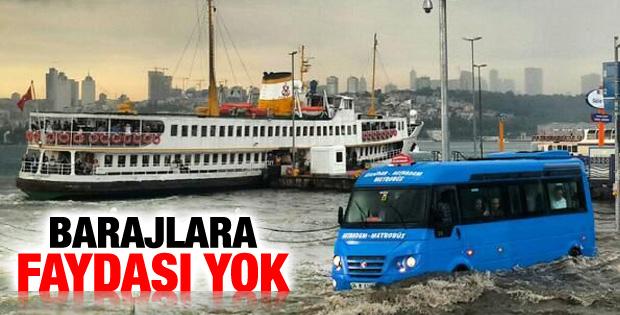 Yağışlar İstanbul barajlarını doldurmadı