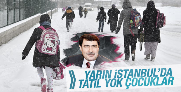 İstanbul'da kar tatili yok