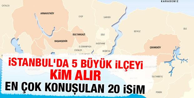 İstanbul'da yarışın kızıştığı ilçeler