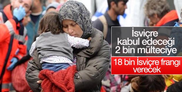 İsviçre 2 bin Suriyeliyi kabul edecek