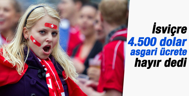 İsviçre'de 4500 dolarlık asgari ücret önerisi reddedildi