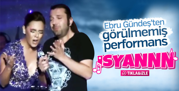 Ebru Gündeş'in İsyan performansı
