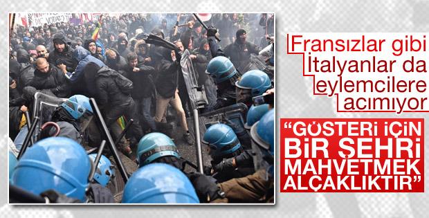 İtalya'da Başbakan karşıtları ayaklandı