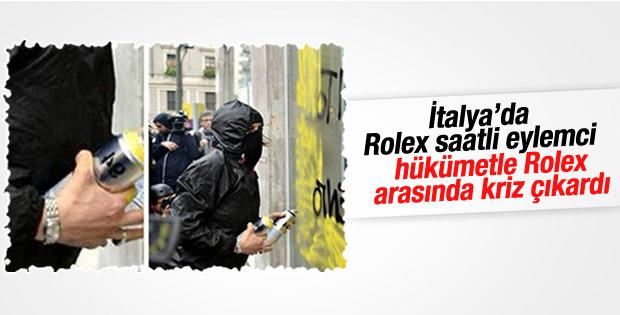 İtalya'da Rolex saatli eylemci kriz çıkardı