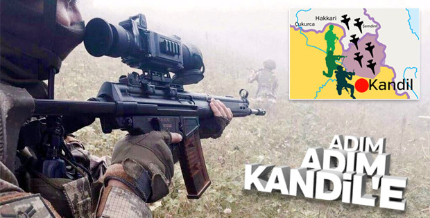 Türk askeri adım adım Kandil'e ilerliyor