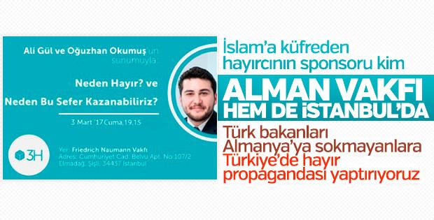 Alman Vakfı sponsorluğunda Türkiye'de hayır propagandası