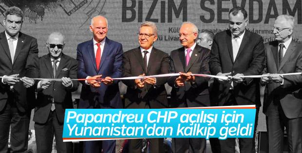 CHP'li belediyede Papandreu'lu açılış