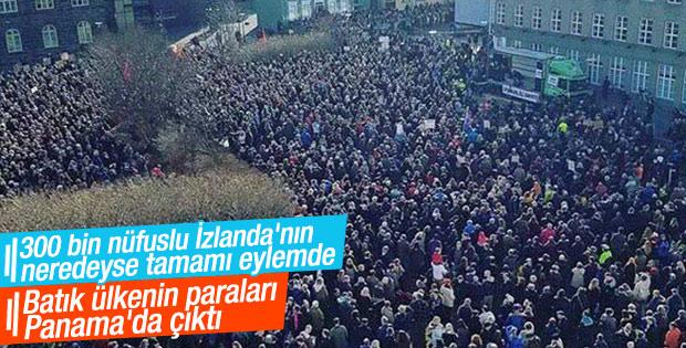 Panama belgelerinin ardından İzlanda'da protesto