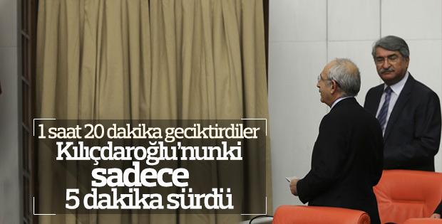 Meclis'te yavaşlatma eylemine Kılıçdaroğlu da katıldı