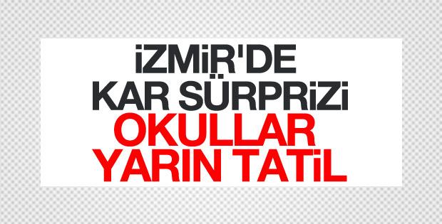 İzmir'de eğitime kar engeli