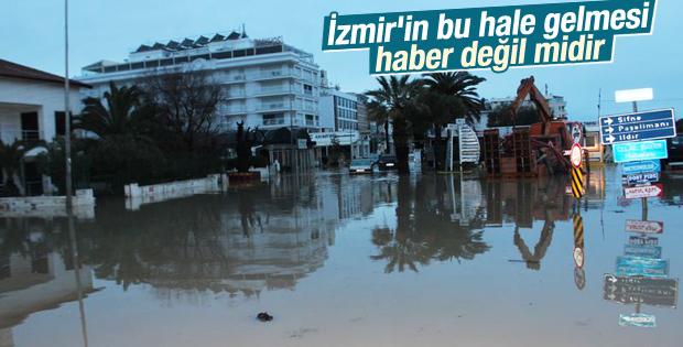 İzmir'de sel baskını