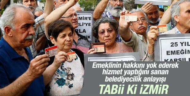 İzmir'de paso eylemi