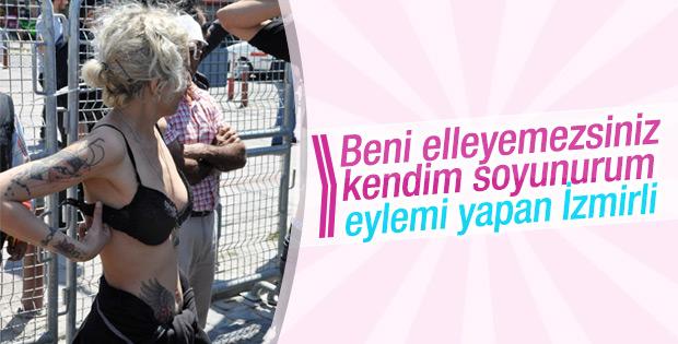 İzmir'de 1 Mayıs: Soyunarak polise tepki gösterdiler