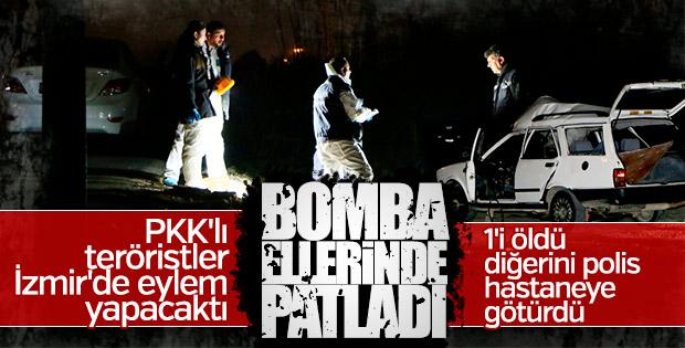 Eyleme giden PKK'lıların otomobilinde bomba patladı
