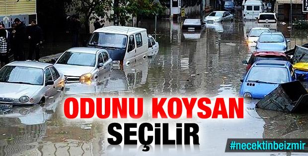 İzmir'i sel bastı Twitter kullanıcıları çıldırdı