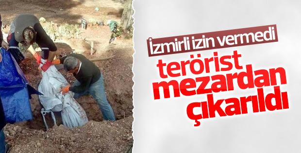 Mezardan çıkarılan PKK'lı İzmir dışına taşındı