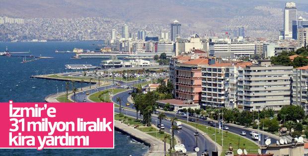 İzmir'e 31 milyon liralık kira yardımı yapıldı