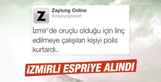Zaytung esprisi İzmirlileri kızdırdı