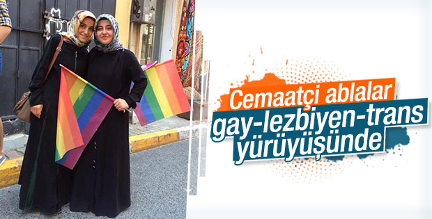 Cemaatçi ablalar LGBT yürüyüşündeydi