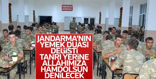 Jandarma'nın yemek duası değişti