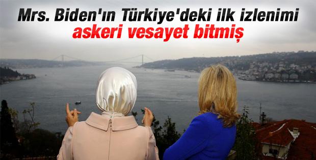 Emine Erdoğan ve Jill Biden Adile Sultan'da buluştu