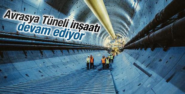 Avrasya Tüneli inşaatı devam ediyor