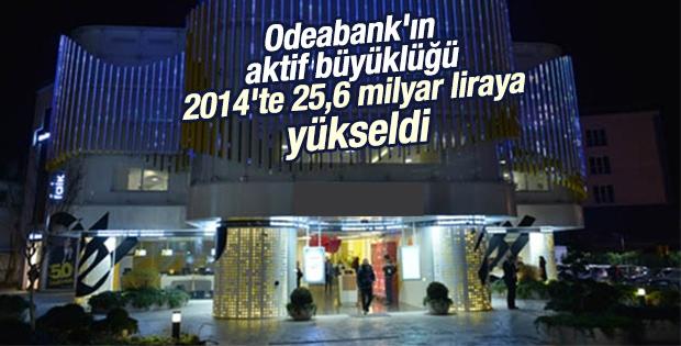 Odeabank'ın aktif büyüklüğü 2014'te 25,6 milyar liraya yükseldi