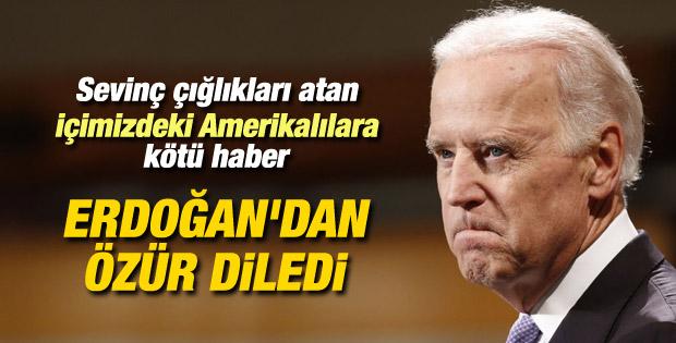 Joe Biden Cumhurbaşkanı Erdoğan'dan özür diledi
