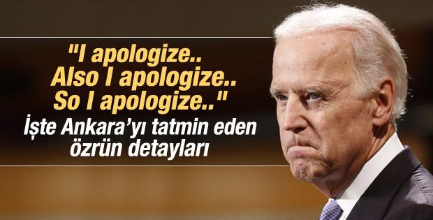 Joe Biden Erdoğan'dan birkaç kez özür diledi