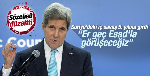 ABD Dışişleri Bakanı Kerry: Esad'la konuşmak zorundayız