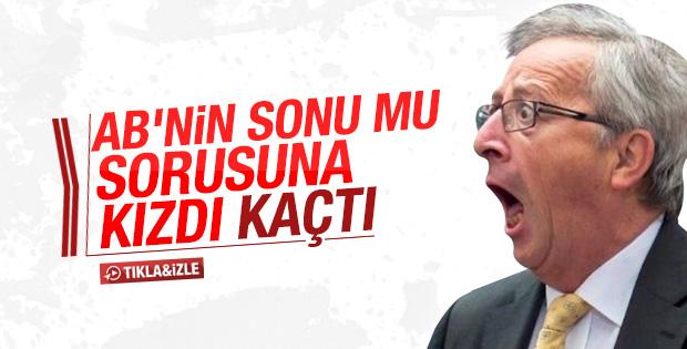 Juncker İngiltere sorusuna kızdı