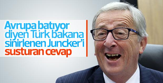 Çavuşoğlu'ndan Juncker'i susturan cevap