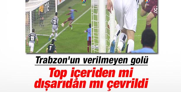 Juventus-Trabzonspor maçında geçersiz sayılan pozisyon