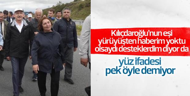 Kılıçdaroğlu eşiyle birlikte yürüdü