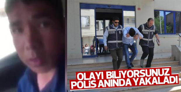 Türkmen genci tehdit eden adam yakalandı