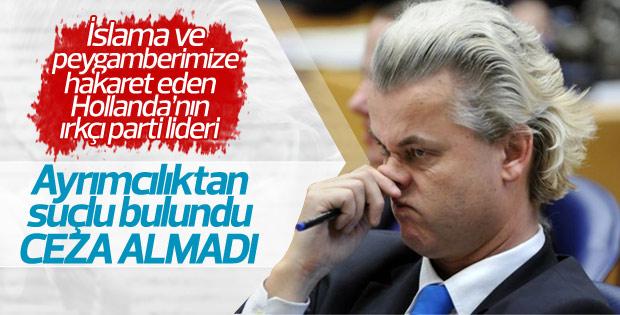 Aşırı sağcı Wilders ayrımcılıktan suçlu bulundu
