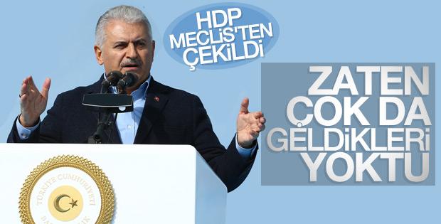 HDP'nin Meclis kararına Başbakan Yıldırım'dan ilk yorum