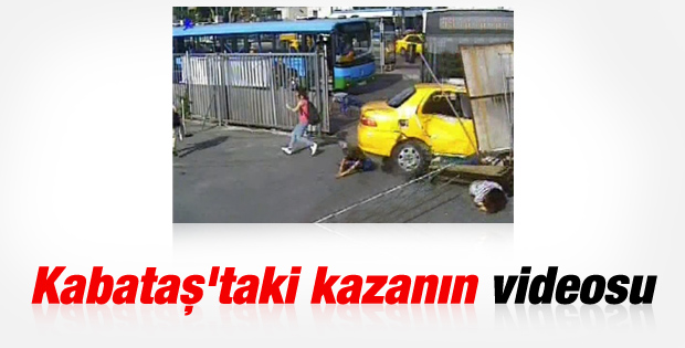 Kabataş'taki otobüs kazasının görüntüleri İZLE