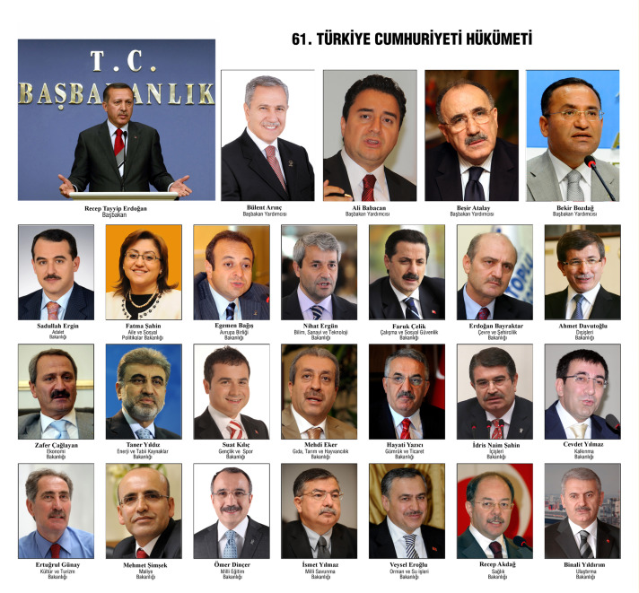 İşte 61. hükümet kabine listesi