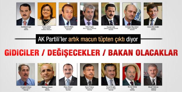 AK Parti'de kim gidecek kim gelecek