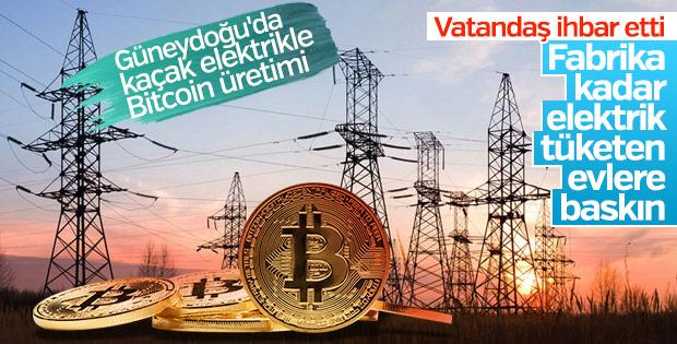 Kaçak elektrikle Bitcoin üretenlere baskın yapıldı