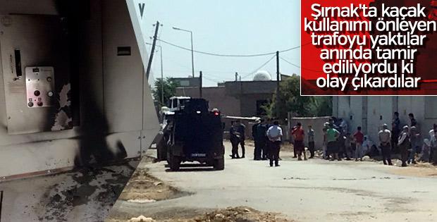 Kaçak elektrik için panolardan sonra trafoyu da yaktılar