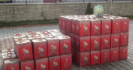 Esenler Otogarı'nda 5 ton kaçak 10 numara yağ yakalandı