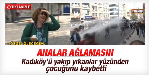 Kadıköy'de bir anne eylemin ortasında kızını kaybetti