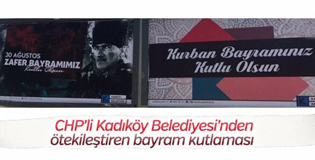 Kadıköy Belediyesi'nden ötekileştiren bayram afişi
